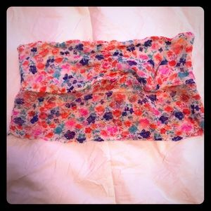 VICTORIAS SECRET PINK Multicolored lace bandeau